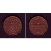 Sachsen 2 Pfennige 1864 B  f.vz