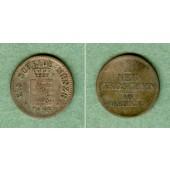 Sachsen 1 Neugroschen (10 Pfennige) 1855 F  f.ss