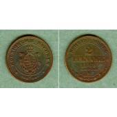 Sachsen 2 Pfennige 1869 B  vz