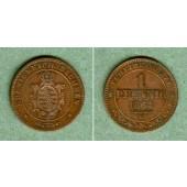 Sachsen 1 Pfennig 1863 B  f.vz