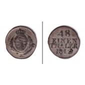 Sachsen 1/48 Taler 1812  ss+