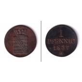 Sachsen 1 Pfennig 1837 G  f.vz