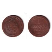 Sachsen 1 Pfennig 1807 H  ss  selten