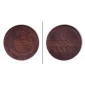Sachsen 1 Pfennig 1815 S  s-ss  selten!