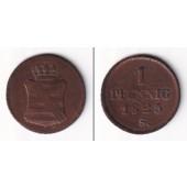 Sachsen 1 Pfennig 1825 S  f.ss  selten!