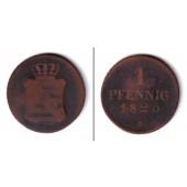 Sachsen 1 Pfennig 1825 S  s-ss  selten!