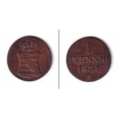 Sachsen 1 Pfennig 1831 S  ss-vz