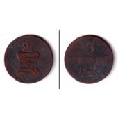 Sachsen 3 Pfennige 1831 S  s  selten!