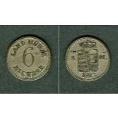 Sachsen Meiningen 6 Kreuzer 1827  ss