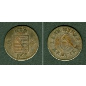 Sachsen Meiningen 6 Kreuzer 1828  ss