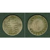 Sachsen Meiningen 6 Kreuzer 1828  f.ss