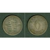 Sachsen Meiningen 6 Kreuzer 1830 L  ss