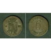 Sachsen Meiningen 6 Kreuzer 1830 L  f.ss/ss