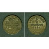 Sachsen Meiningen 6 Kreuzer 1831 L  s-ss