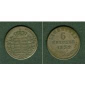 Sachsen Meiningen 6 Kreuzer 1832 L  f.ss