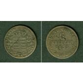 Sachsen Meiningen 6 Kreuzer 1835 L  ss  selten
