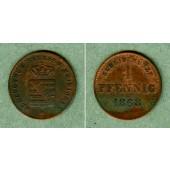Sachsen Meiningen 1 Pfennig 1868  ss-vz