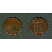 Sachsen Eisenach 2 Pfennige 1750 s+