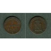 Sachsen Weimar und Eisenach 1 Pfennig 1840 A ss-vz