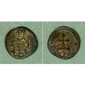 Sachsen Weimar Eisenach 3 Pfennige 1760 FS  f.vz  selten
