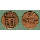 Sachsen Weimar und Eisenach 2 Pfennige 1799  ss