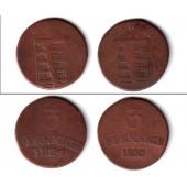 Lot: Sachsen Weimar und Eisenach 2x 3 Pfennig  s-ss  [1824-1830]