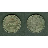 Anhalt Bernburg 1/6 Taler 1856 A  unzirkuliert  selten