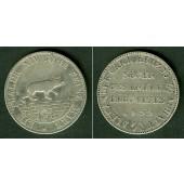 Anhalt Bernburg 1 Taler 1855 A  AUSBEUTE  ss+  selten