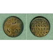 Braunschweig Wolfenbüttel 1/24 Taler (Groschen) 1760 IDB  vz+
