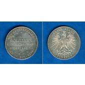 Frankfurt 1 Taler 1859  SCHILLER  vz-st  selten!