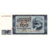 DDR: 100 MARK 1964  Ro.358 M1  Musternote  I