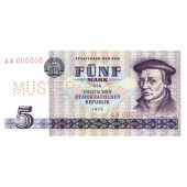 DDR: 5 MARK 1975  Ro.361 M3  Musternote  I