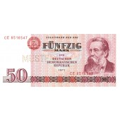 DDR: 50 MARK 1971  Ro.360 M  Musternote  I-