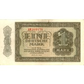 DDR: 1 DEUTSCHE MARK 1948  Ro.340b  II