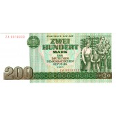 DDR: 200 MARK 1985  Ro.364b  Ersatznote  I-