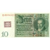 DDR: 10 DEUTSCHE MARK 1948  Kuponausgabe  Ro.334c  I