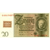DDR: 20 DEUTSCHE MARK 1948  Kuponausgabe  Ro.335c  I