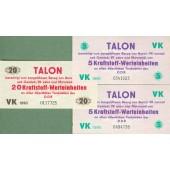 Lot: DDR: 3x TALON Kraftstoffwerteinheiten 1990  I