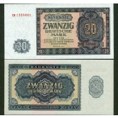 DDR: 20 DEUTSCHE MARK 1955  Ro.351a  I-