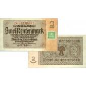 DDR: 2 DEUTSCHE MARK 1948  Kuponausgabe  Ro.331b  I-