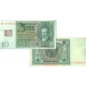 DDR: 10 DEUTSCHE MARK 1948  Kuponausgabe  Ro.334a  I-