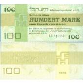 DDR: Forum-Scheck 100 MARK 1979  Ro.372a  I-  selten!