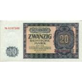 DDR: 20 DEUTSCHE MARK 1955  Ro.351b  Ersatznote  I