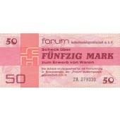 DDR: Forum-Scheck 50 MARK 1979  Ro.371b  Ersatznote  I