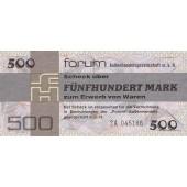 DDR: Forum-Scheck 500 MARK 1979  Ro.373b  Ersatznote  I