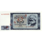 DDR: 100 MARK 1964  Ro.358 M1  Musternote  I-