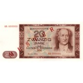 DDR: 20 MARK 1964  Ro.356 M1  Musternote  I