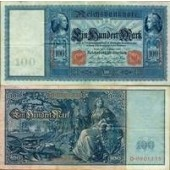 100 MARK 1909  Ro.38  III+