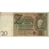 20 REICHSMARK 1929  Ro.174a  Friedensdruck  I-