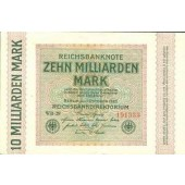 10 MILLIARDEN MARK 1923  Ro.114c  II-